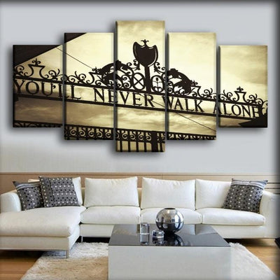 Liverpool - You WIll Never Walk Alone - Canvas Monsters