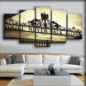 you'll never walk alone 5 pc wall art