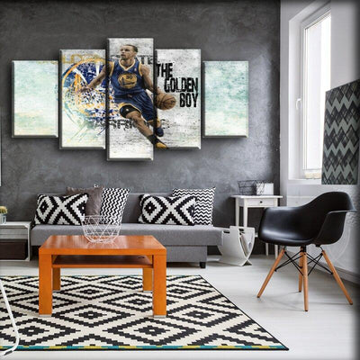 Stephen Curry - The Golden Boy - Canvas Monsters