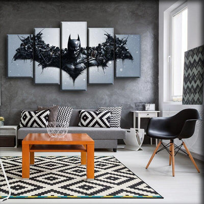 Batman - The Villains Against One Logo - Canvas Monsters