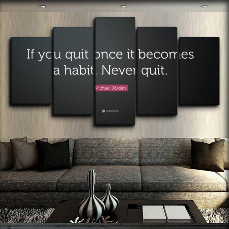 Motivational - Never Quit Michael Jordan - Canvas Monsters