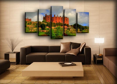 United Kingdom Castles Parks Powis Castle Wales - Canvas Monsters