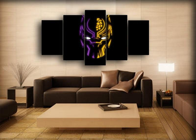 Black Panther - Purple And Yellow - Canvas Monsters