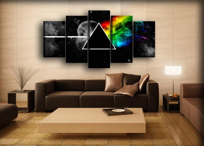 Pink Floyd - The Dark Side of the Moon Galactic Style - Canvas Monsters