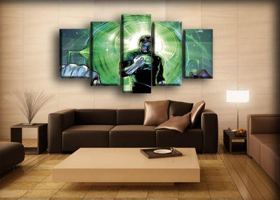 Green Lantern - Comic Book Cover - Canvas Monsters