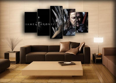 Game Of Thrones - Ned Stark - Canvas Monsters