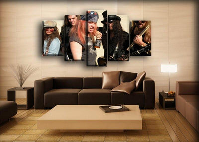 Guns n Roses - Early Days Portrait Jamming - Canvas Monsters