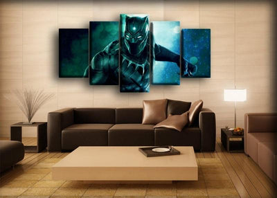 Black Panther - Orb Background - Canvas Monsters