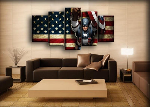 Captain America - American Flag Background