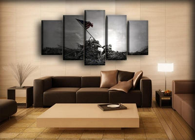 Military Veteran - Standing The Flag - Canvas Monsters