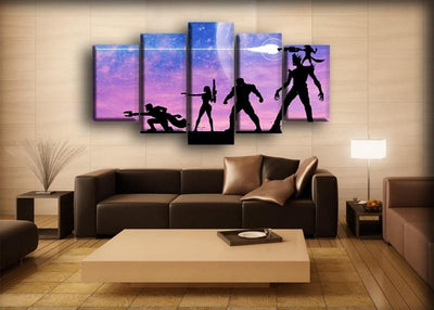 Guardians of the Galaxy  - Firing Silhouette - Canvas Monsters