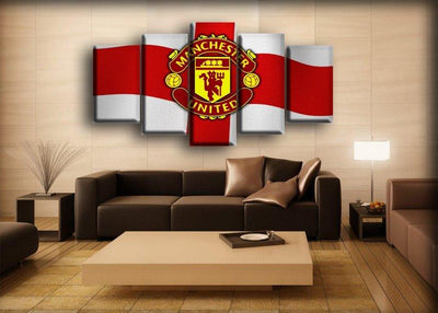 Manchester United - Cross Of St George Background - Canvas Monsters