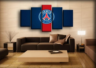 Paris Saint-Germain - Red Center Background - Canvas Monsters