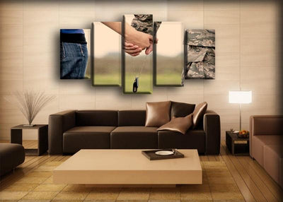 Military Veteran - Holding Hands - Canvas Monsters