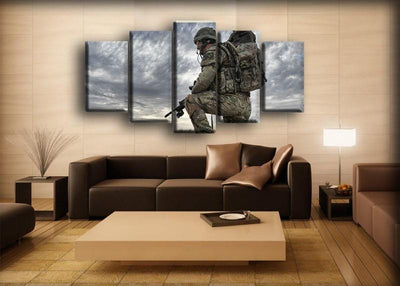 Military Veteran - Missing Home - Canvas Monsters