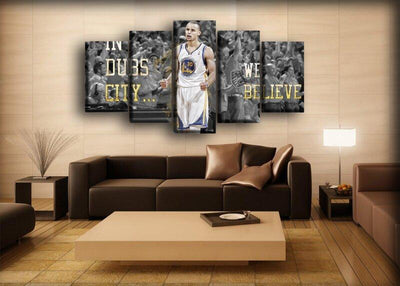 Stephen Curry - In Dubs City We Believe - Canvas Monsters