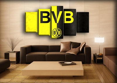 Borussia Dortmund - Black And Yellow Contrast - Canvas Monsters