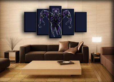Black Panther - Ready To Attack - Canvas Monsters