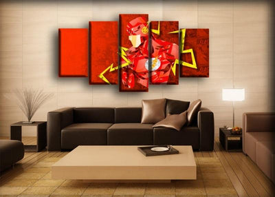 Flash - The Abstract Design - Canvas Monsters