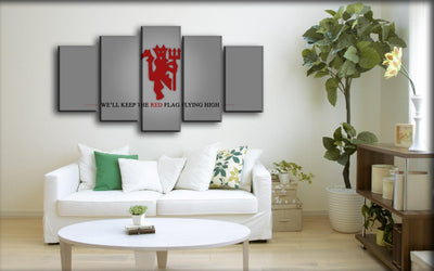 Manchester United - We Will Keep The Red Flag Flying High - Canvas Monsters
