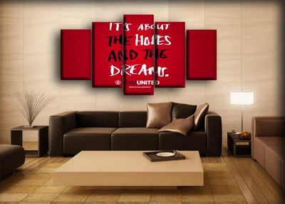 Manchester United - It Is About The Hopes And Dreams - Canvas Monsters