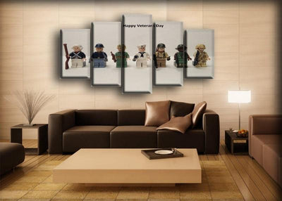 Military Veteran - Cute Lego Version - Canvas Monsters
