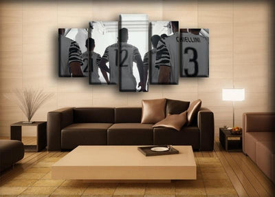 Juventus Team Back Canvas