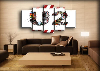 U2 - Collage - Canvas Monsters