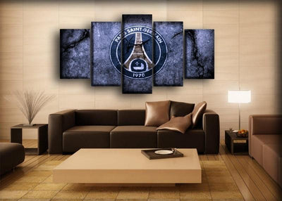 Paris Saint-Germain - Cracked Wall Design - Canvas Monsters