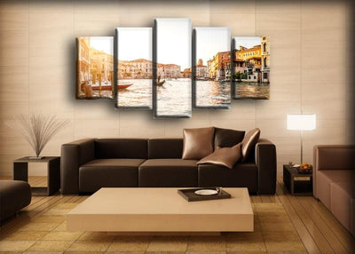 Italy Houses Boats - Canvas Monsters