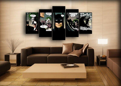 Batman - Joker Laughing Comics - Canvas Monsters