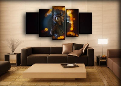 Guardians of the Galaxy  - Rocket In The Hole - Canvas Monsters