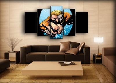 Aquaman - Vintage Comic Art Work - Canvas Monsters