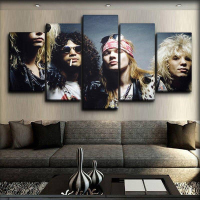 Guns n Roses - Early Days Portrait - Canvas Monsters