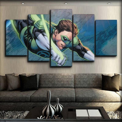 Green Lantern - Flying - Canvas Monsters