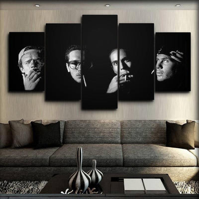 Red Hot Chili Peppers - Smoking Portrait - Canvas Monsters