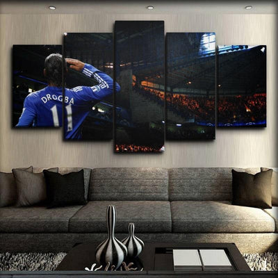 Chelsea - Drogba The Lion - Canvas Monsters