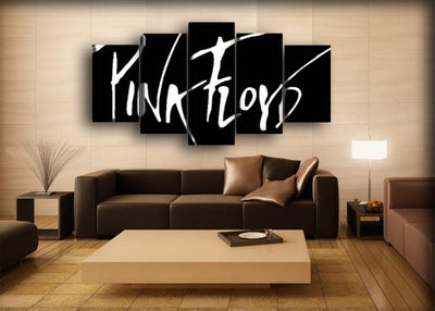 Pink Floyd - Logo in Black Background - Canvas Monsters