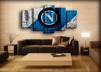 S.S.C. Napoli - Retro Style - Canvas Monsters