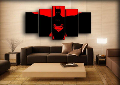 Batman - Vs Superman Red And Black - Canvas Monsters