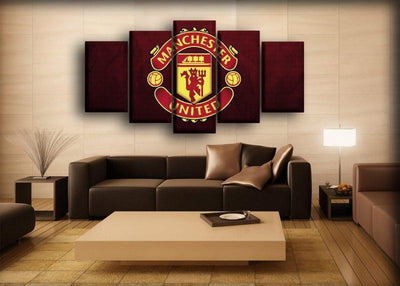 Manchester United - Dark Maroon Background