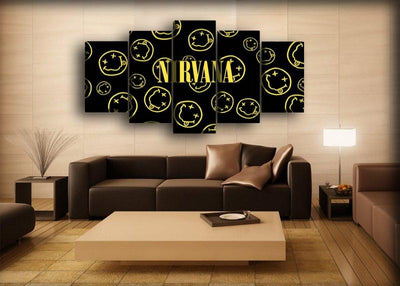 Nirvana - Smiley Background - Canvas Monsters