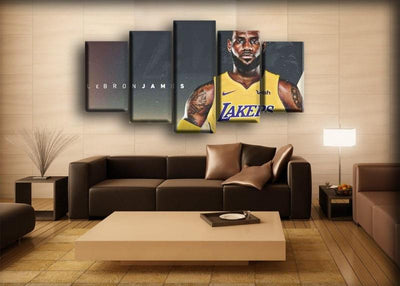 Lebron James - In Lakers Jersey - Canvas Monsters
