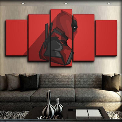 Dead Pool - Side View Red Background - Canvas Monsters
