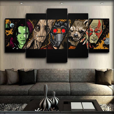 Guardians of the Galaxy  - The Faces of The Guardians - Canvas Monsters