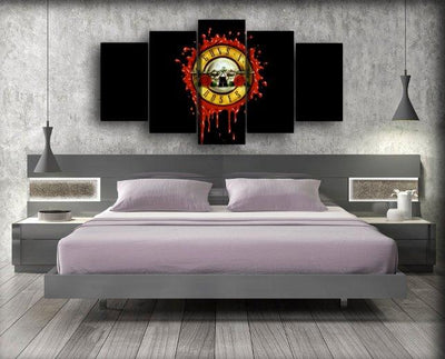 Guns n Roses - Stamp Style Logo - Canvas Monsters