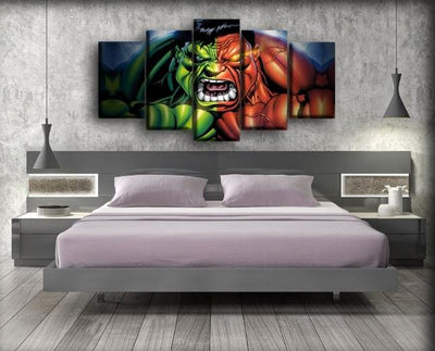 Incredible Hulk - The Red And Green Hulk - Canvas Monsters