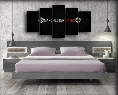 Manchester United - White Red And Black Colors - Canvas Monsters