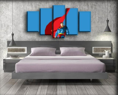 Superman - Minimalist Art Work - Canvas Monsters