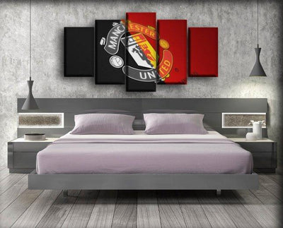Manchester United - Tilting Logo - Canvas Monsters